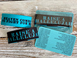 raise a hallelujah (heaven comes to fight for me) wristband bracelet