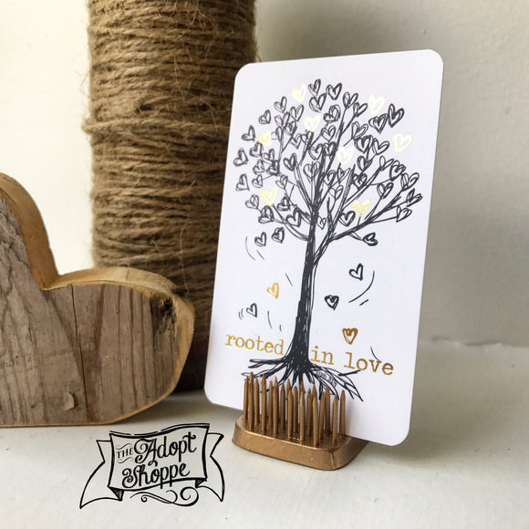 rooted in love #TheAdoptShoppecard