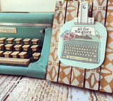all for His glory typewriter #TheAdoptShoppecard