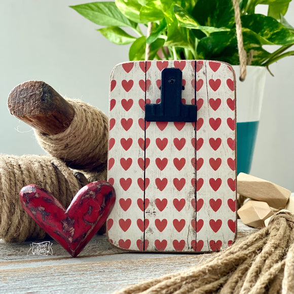 clip frame (red heart) to be purchased with #TheAdoptShoppecards