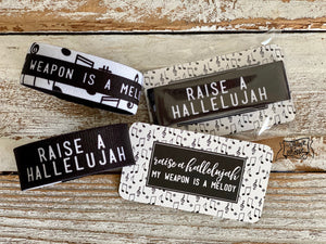 raise a hallelujah (my weapon is a melody) wristband bracelet