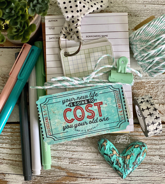 your new life is going to cost you your old one turquoise ticket #TheAdoptShoppecard