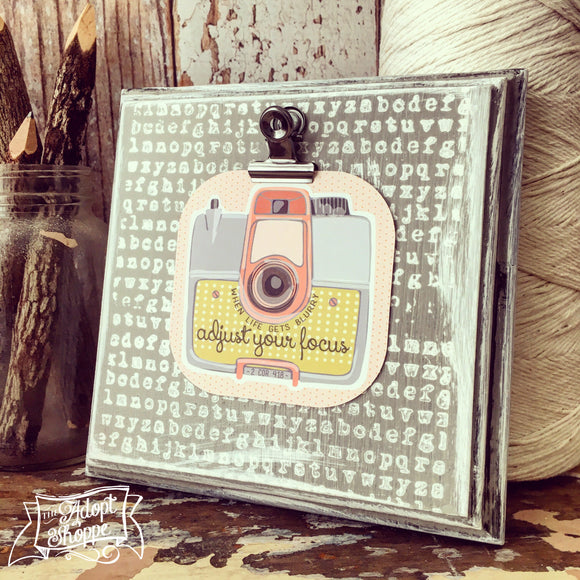 adjust your focus vintage camera #TheAdoptShoppecard