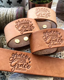 grace upon grace (camel/natural) leather cuff