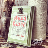 strong & brave (coral) #TheAdoptShoppecard