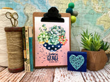 "grow in grace 5""x7"" succulent print"