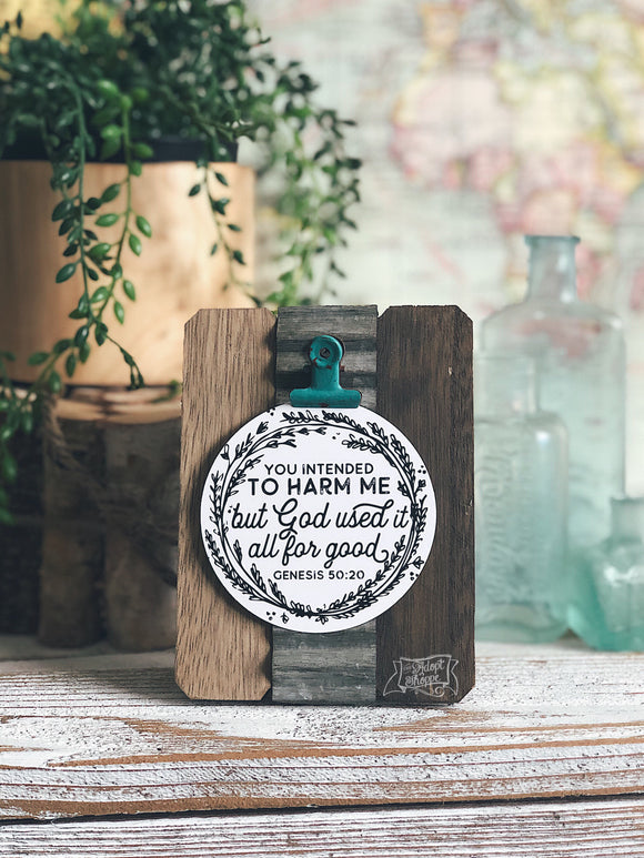 you intended to harm me, but God used it all for good (Genesis 50:20) #TheAdoptShoppecard