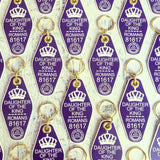daughter of the King purple retro motel key tag fob