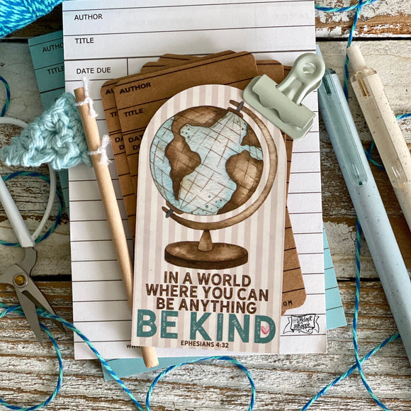 in a world where you can be anything BE KIND (Ephesians 4:32) #TheAdoptShoppecard