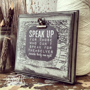 speak up #TheAdoptShoppecard