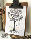 "rooted in love gold foil 5""x7"" print"