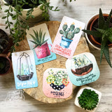 even in the desert a cactus blooms succulent #TheAdoptShoppecard