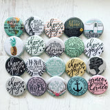 Jeremiah 29:11 hope and bright tomorrows flair button pin / magnet / flat back