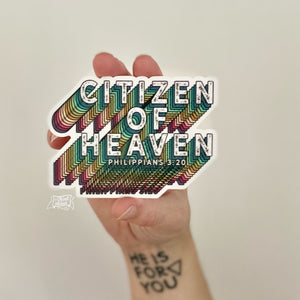 citizen of heaven (Philippians 3:20) vinyl sticker