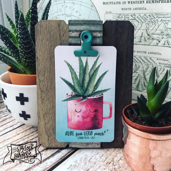 aloe you vera much succulent #TheAdoptShoppecard