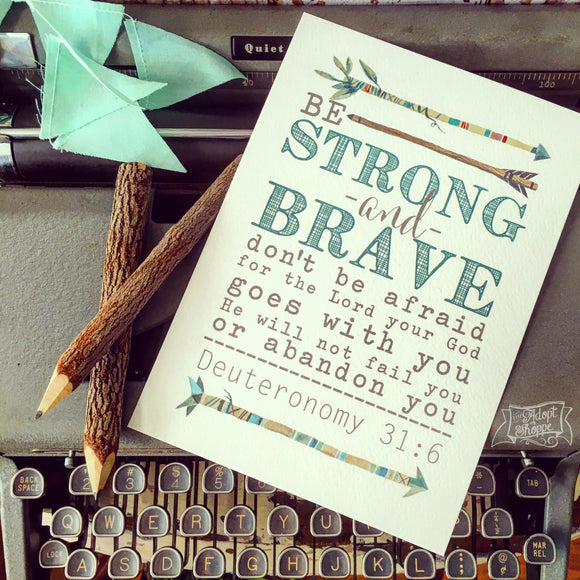 strong & brave (teal) 5