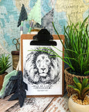 "bold as a lion 5""x7"" print"