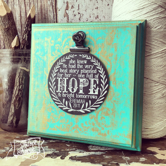 hope & a future Jeremiah 29:11 #TheAdoptShoppecard