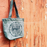 she could be BRAVE grey fair trade tote bag