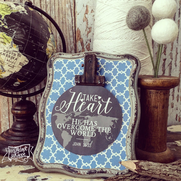 take heart #TheAdoptShoppecard (round)