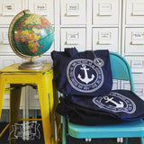 HOPE is my anchor navy fair trade tote bag
