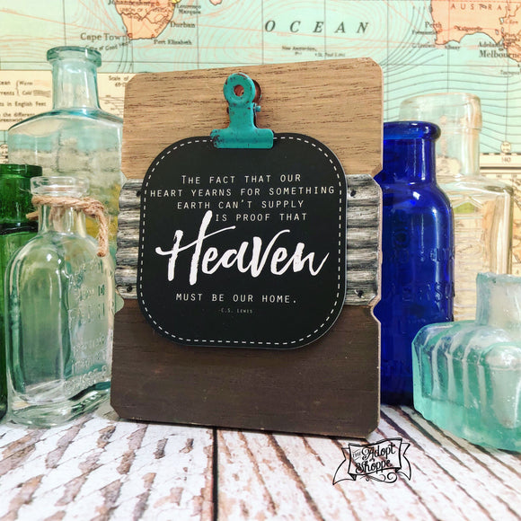 heaven must be our home (C S Lewis) #TheAdoptShoppecard