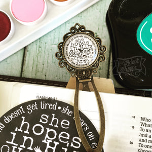 she hopes in Him and He renews her strength (Isaiah 41:10) bookmark