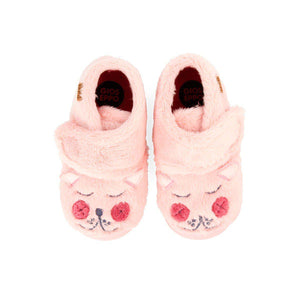 Gioseppo FURRY PINK HIGH TOP SLIPPERS FOR GIRLS - TheShoeZoo