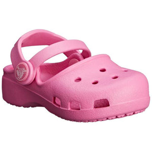 Crocs Girls Karinclogk Clogs, Pink - TheShoeZoo