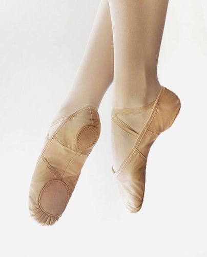 So Danca Pink Leather Split Sole Ballet Shoes