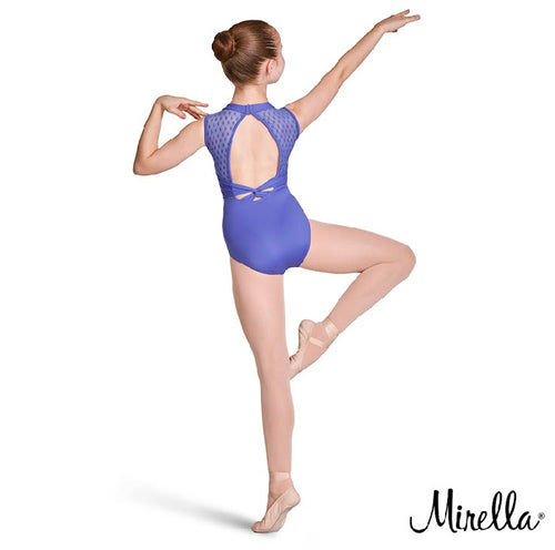 Mirella High Neck Open Back Leotard