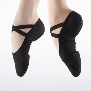 So Danca SD120 Left and Right Foot Black Canvas Ballet shoe