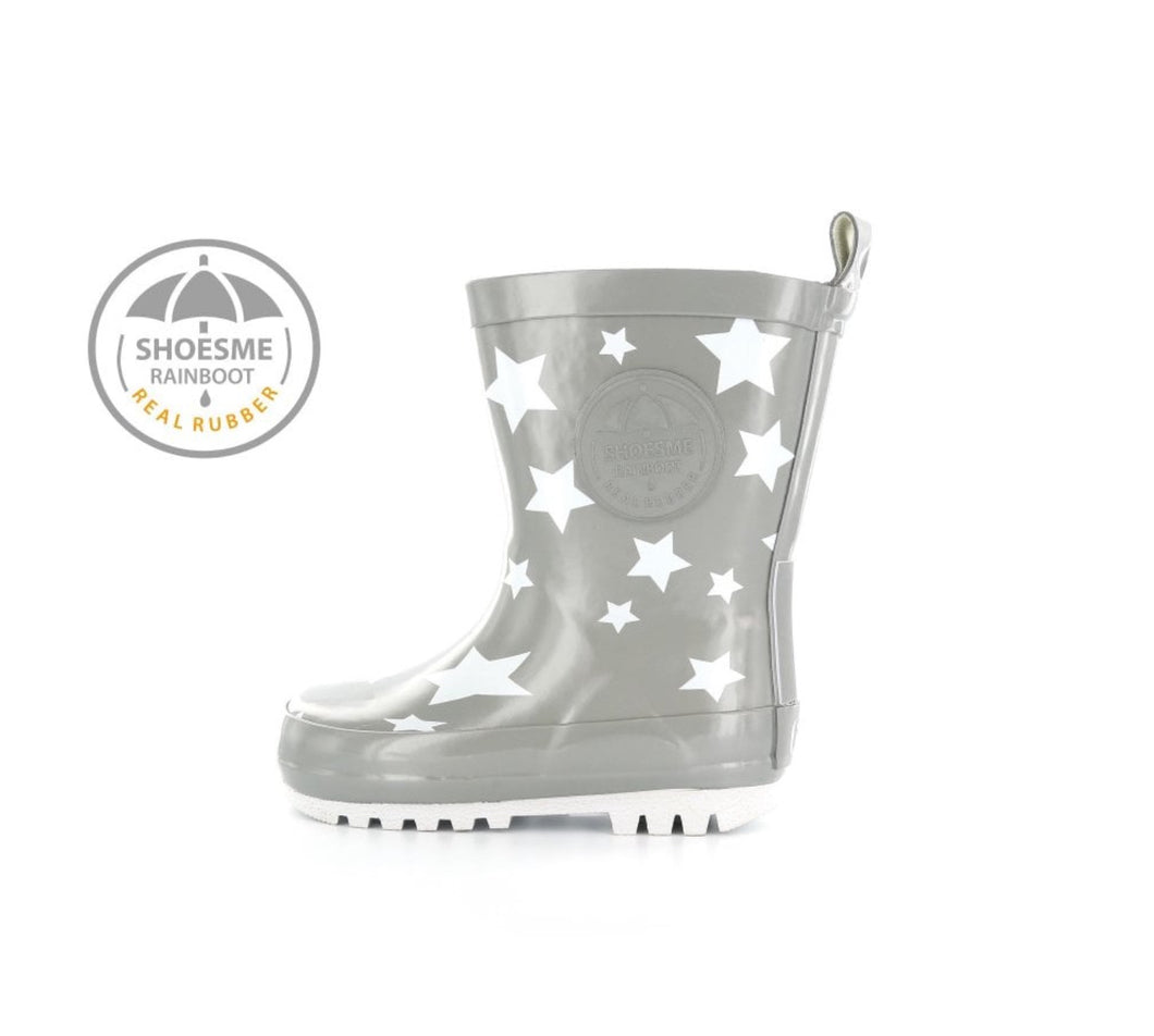 Shoesme Silver/Grey Star Wellies