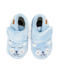 Gioseppo FURRY BLUE HIGH TOP SLIPPERS FOR BOYS - TheShoeZoo