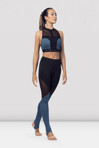 Ladies Zip Front Mesh Crop Top