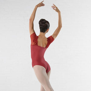 Ballet Rosa Justine Leotard with Lace Cap Sleeves