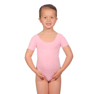 Roch Valley Pink Short Sleeved Regulation Leotard
