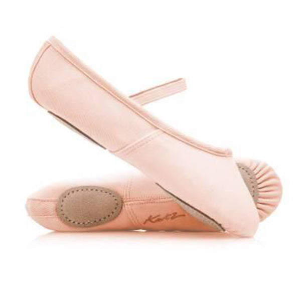 Katz Pink Canvas Split Sole Ballet Shoes