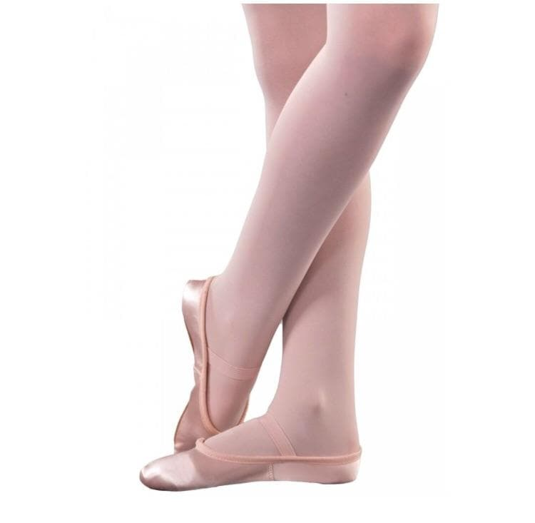 1st Position Pink Satin Full Sole Ballet Shoes - TheShoeZoo