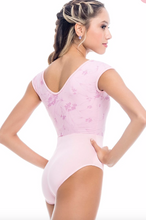 So Danca Pink Print Cap Sleeve Leotard