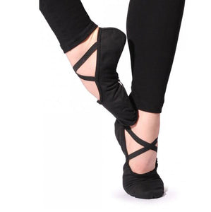 Sansha Silhouette Black Canvas Ballet Shoe