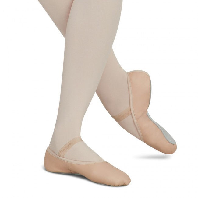 Capezio Daisy Pink Leather Full Sole Ballet Shoes - TheShoeZoo
