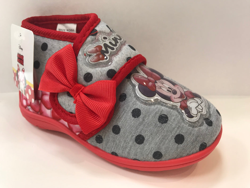 Grey Minnie Mouse Slippers