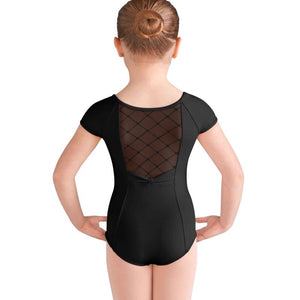 Bloch Girls Black Cap Sleeve Leotard - TheShoeZoo