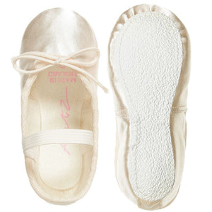 Katz Ivory Rubber soled Ballet Shoe - TheShoeZoo