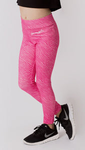Pineapple Pink Zebra Print Leggings