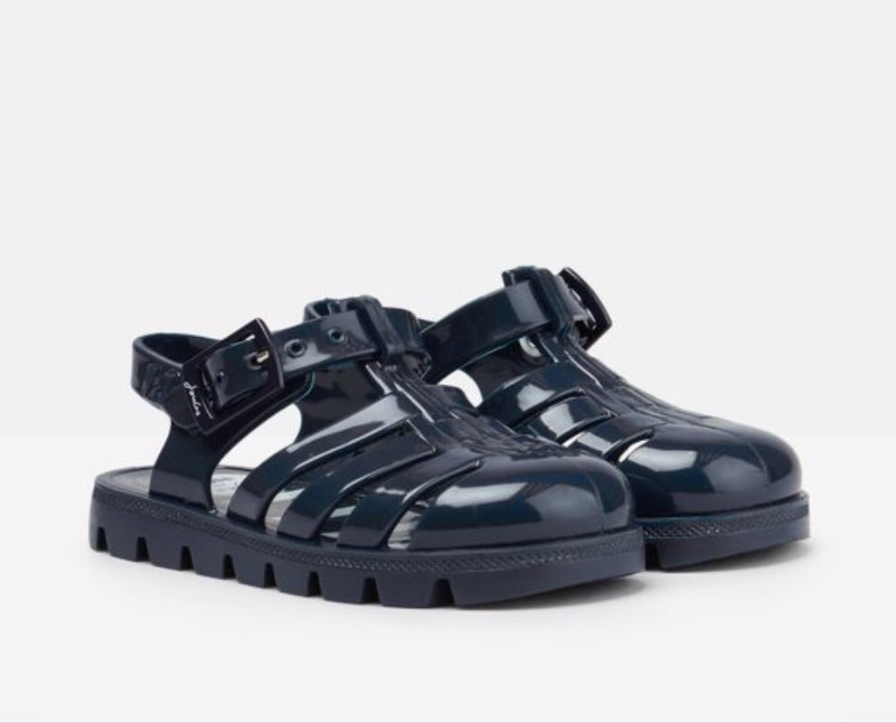 Joules Boys Juju Jelly Shoe Sandals in FRENCH NAVY