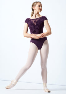 Bloch Dewberry Cosmo Open Back Cap Sleeve Leotard