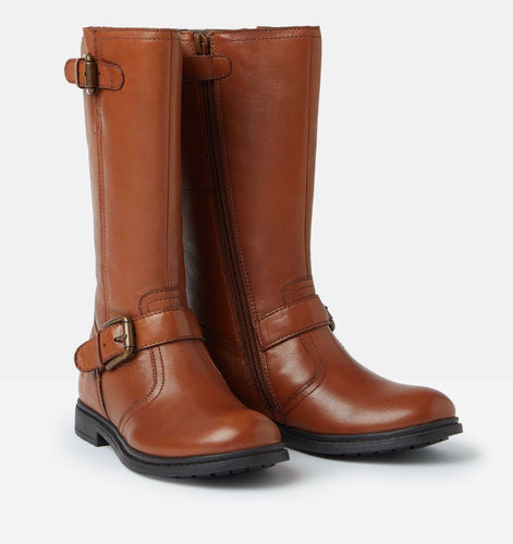 Joules Darcy Tan Leather Boots