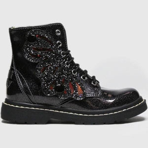 Lelli Kelly Black Patent Fairy Wings Boots